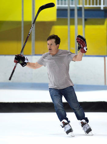 Michael J Fox - hockey