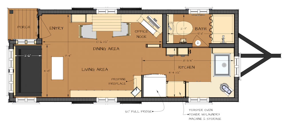 Tiny Houses More pragmatic minimal approach to life – Tiny House Floor Plan Maker