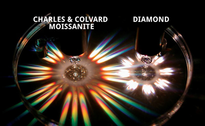 moissanite diamond comparison