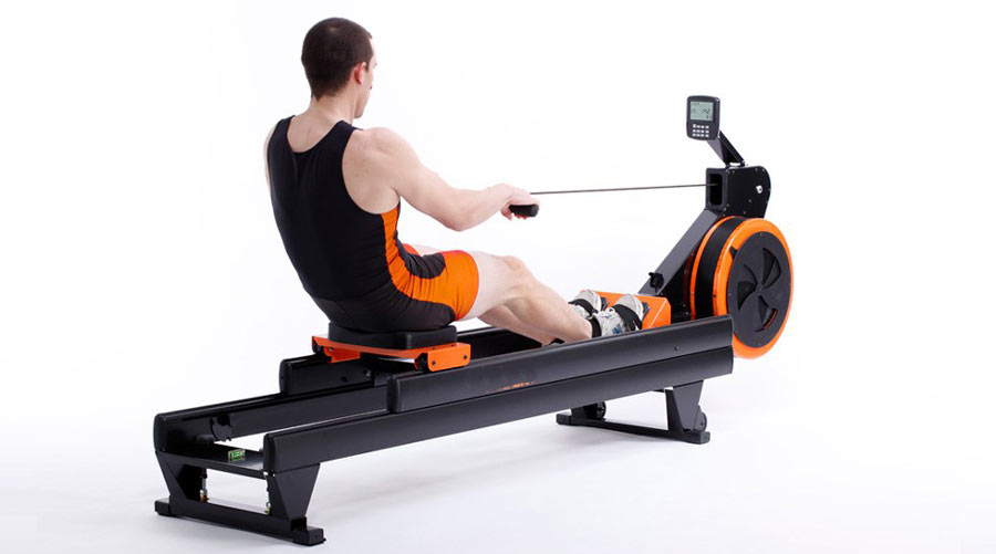 Braked Flywheel Resistance Rowing Machine