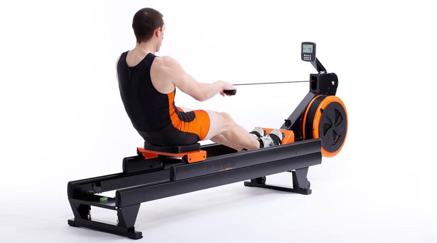 Braked Flywheel Resistance Rowing Machine