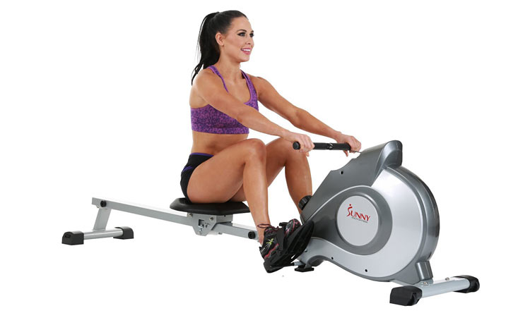 Rowing Machine Review Young Woman