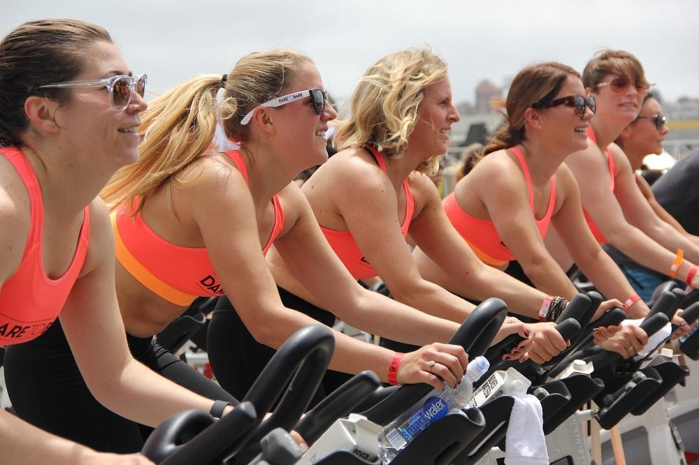 Spinning bike exercise