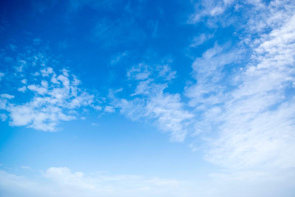 Blue sky - calm and peaceful
